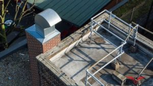 Image of roof survey with railing and ventilitation