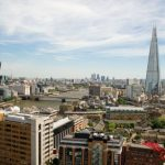 A view of London's skyline with the Shard in the distance